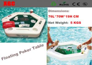 Outdoor Amusement Park Equipment White Poker Table For