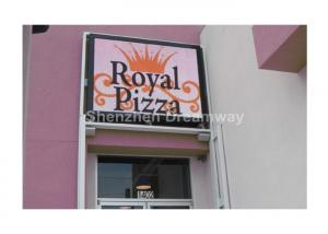 China Commercial Full Color IP65 Outdoor LED Signs Wall Mouted with Frame LED Box on sale