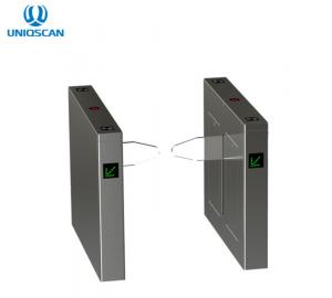 China Double-leaf electric baffle/acrylic counter revolving door with RFID reader/flap turnstile gate on sale