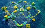 Giant Size Summer Popular Inflatable Floating Water Park Games For Adults