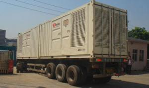 China Professional Silence Soundproof Genset Power Plant , Man Containerised Generator Set supplier