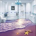 Solvent free self leveling clear epoxy 3D flooring