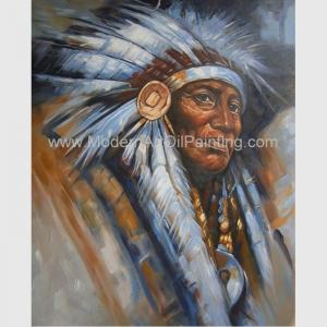 China Impression Human Portrait Painting Tribal Leaders Handmade On Canvas on sale