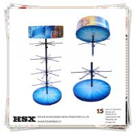 4-tier metal hanging solar power rotating display stand