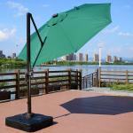3 M Green Crane Outdoor Garden Patio Umbrella 600 D Oxford Polyester Fabric And Base