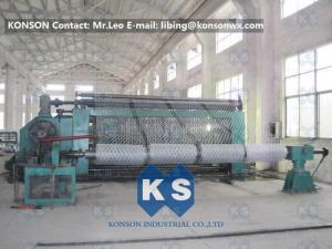China Automatic Hexagonal Wire Netting Weaving Machine / Gabion Mesh Production Line on sale
