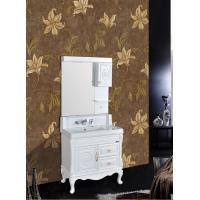 Antique Bathroom Decoration PVC Vanity Cabinets With Legs / Zinc Alloy Handle