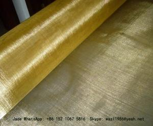China Plain Weave Brass Filter Wire Mesh/Wire Cloth Used for Making Filters on sale