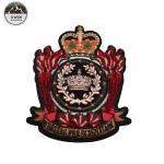 Exquisite Crown Custom 3d Patches , Large Custom Embroidered Patches For Pants