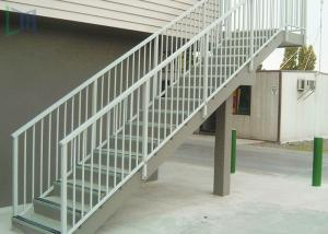China Residential Outdoor Stair Handrail Wall / Grounded Mounted With Stable Function on sale