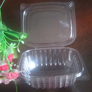 China 8oz PET Disposable Salad Bowls Hinged Lid , Eco Friendly Rectangular Box on sale