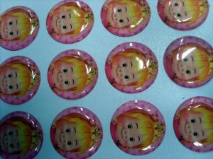China Cute Pig Crystal Epoxy Sticker on sale