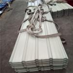 840-0.4mm Huaguan ivory white corrugated roof sheets with 55% AZ warehouse and factory
