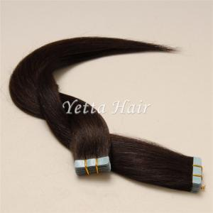 China Chocolate Pre Bonded Human Hair Extensions / Simplicity Tape In Hair Extensions on sale