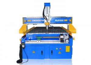 China 3kw Italy HSD air cooling spindle , German quality 1325 rotary cnc wood router / 3d 4 axis cnc router for wooden carving on sale