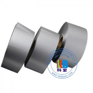 China Metallic silver color resin ink ribbon label printer transfer printing for fabric polyester satin label printing on sale