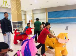 China Hansel kidscoin operated indoor rides electric mountable animals for birthday parties on sale