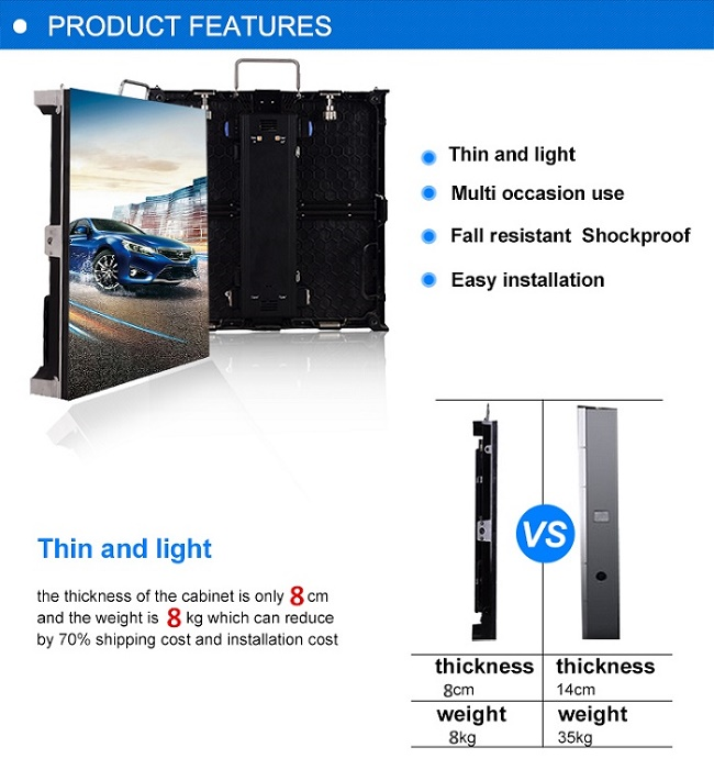 Indoor Full Color Stage Rental Led Display Video Wall 3.91mm Pixel Clear
