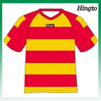Dry Fit Wicking Mesh Cool Soccer Jerseys / Polyester 150gsm Sports Uniforms