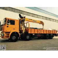 DRZ 8x4 SHACMAN F3000 cargo truck mounted crane 14T XCMG  SQS350K4Q telescopic boom cell:8615271357675