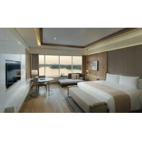 Contemporary 5 Star Hotel Room Furniture Wood Veneer And Painting