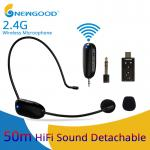 2.4Ghz wireless portable rechargeable Microphone with separate Transmitter and receiver 3.5mm to 6.5mm convertor