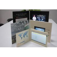 HD 1024 * 600 USB Lcd Video Greeting Card , Wifi Sensor Switch Promotional Video Brochure