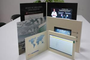 China HD 1024 * 600 USB Lcd Video Greeting Card , Wifi Sensor Switch Promotional Video Brochure on sale