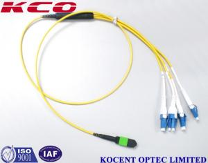 China Switchable LC Uniboot MPO Single Mode Mono Mode OS2 Optic Fiber Patch Cables on sale