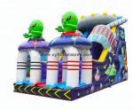 0.55PVC inflatable dry slid 4×8Meter Alien inflatable slide