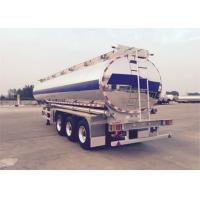 China CIMC Fuel Tank Trailer ADR Standard Aluminum Alloy With 5 Compartments on sale