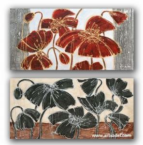 China 100% Handmade Flower Group Oil Painting on Canvas on sale