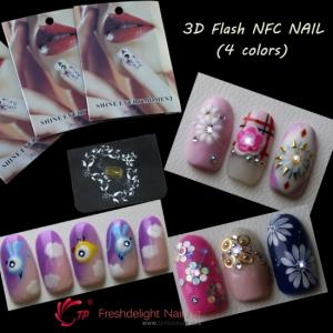China Nail Art 3D Flash NFC Nail Chilps on sale