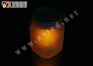 China Orange, blue 105 * 105 * 165mm led sun jars, Moon Jar, Solar Power Sun Jar for room on sale