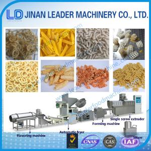 China Single Screw extruder Fried slanty snack making machine on sale