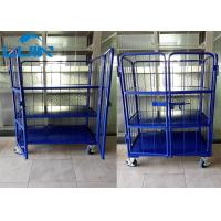 Metal Collapsible Trolleys With Wheels, Two Front Door Logistics Vertical Trolley