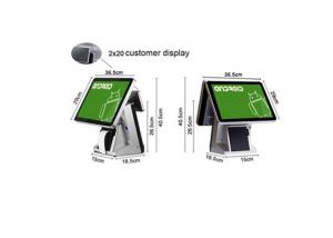 China 15 Inch Android POS System One Touch Built-in VFD Retail POS Terminal With 1D Barcode Scanner on sale