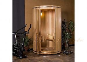 China Free Standardizing Vertical Barrel Silo Sauna For Sauna bath , outdoor sauna room on sale