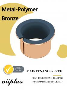 China Metal Polymer Split Plain Bearing With Sintered Bronze Layer Filled With PTFE on sale