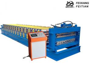 China Trapezoid Double Layer Roll Forming Machine Steel Material For Roof Panel on sale