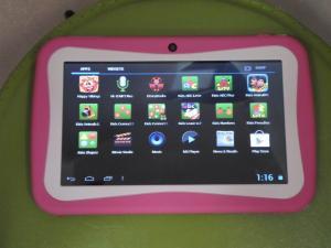 China Les enfants de 7 pouces apprenant le cortex A9 1.2GHz de tablette de Multitouch soutiennent 32GB le micro Carte SD on sale