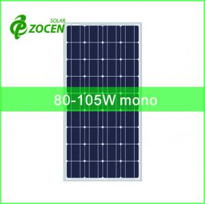 China 36cells 125*125mm 80-105W Monocrystalline Solar Panels for Portable Solar System on sale