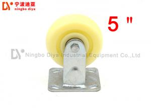 China Nylon Plate Caster Wheels Flat Panel Directional 5 Inch Swivel Caster Wheels on sale