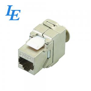 China Phosphor Bronze Toolless Keystone Jack , UL94-V0 Ethernet Keystone Jack on sale