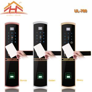 China Keyless Remote Control RFID Card Fingerprint Smart Lock With Waterproof Screen on sale
