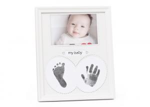 China Custom Made Baby Hand and Footprint Photo Frame Newborn Baby Souvenir Gift on sale