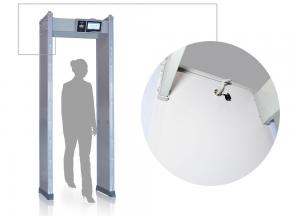 China Border Defense Digital Door Frame Metal Detector Scanner With LCD Screen on sale