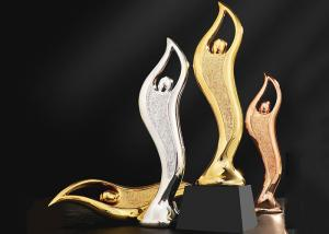 China Epoxy Resin Trophies And Awards Gold / Silver / Copper Plated Type Optional on sale