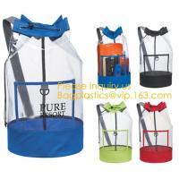 Biodegradable Eco-friendly Backpack Duffel Laundry Bag sport polyester string backpack drawstring backpack pvc bag, sack