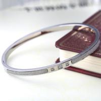 Scrub Stainless Steel Bangle, Ladies Stainless Steel Bracelet, Diamond Bangle